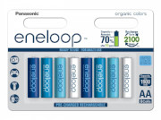 Panasonic Eneloop Ocean Limited Edition (8 pack) + 2 kpl patterikoteloa